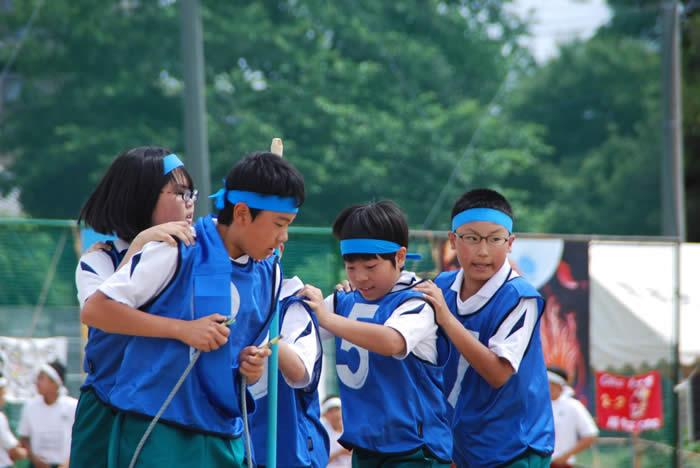 体育祭の様子の写真