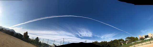 ひこうき雲の写真
