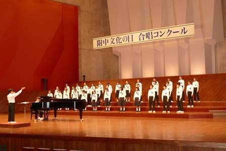 合唱コンクールの様子の写真