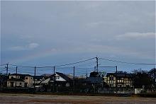 虹がでている様子の写真