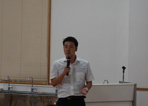 講師の田中慎一朗先生の写真